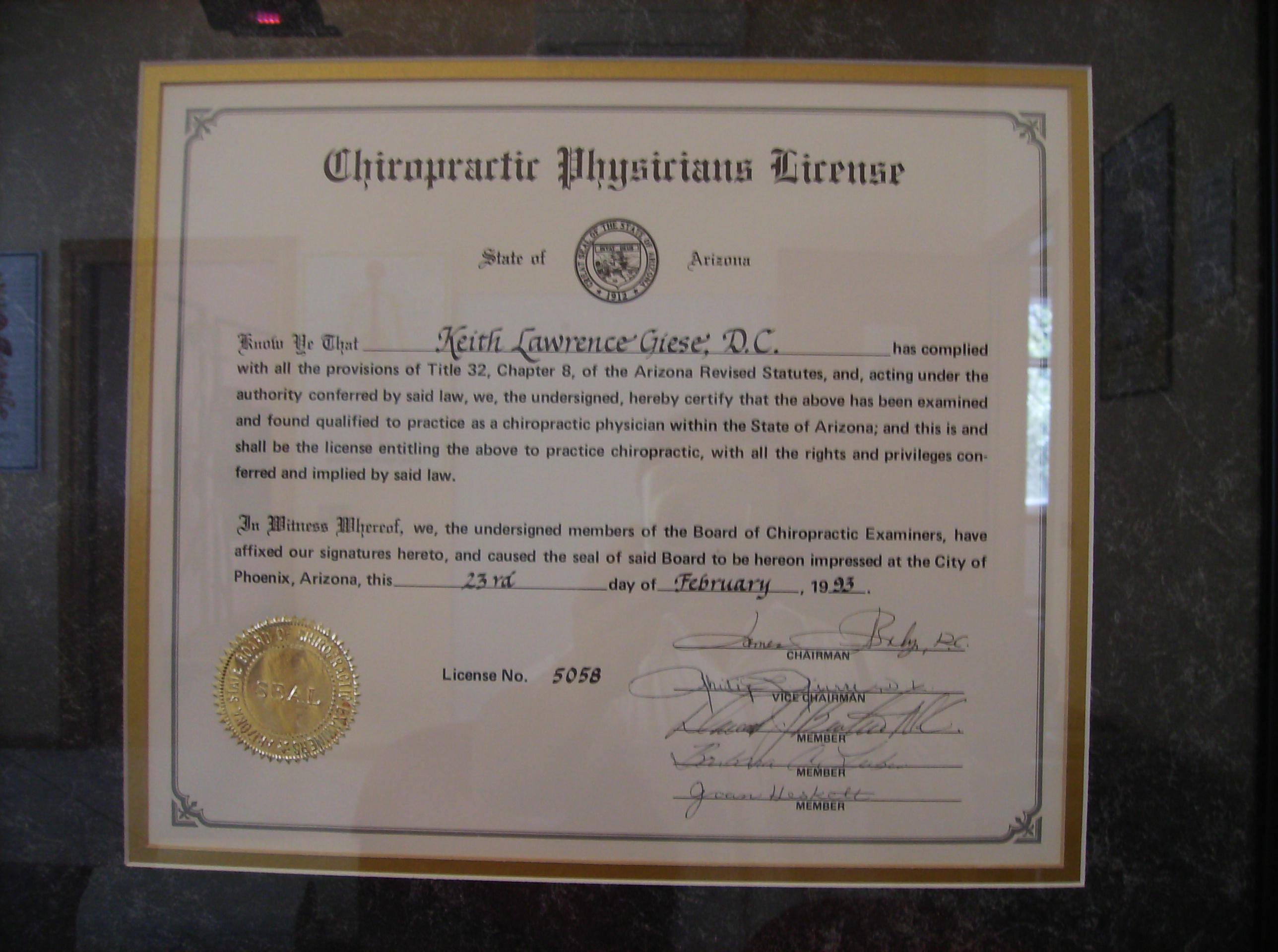 Diploma abilitazione Arizona