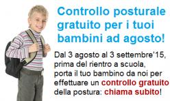 Agosto 2015: controllo posturale gratuito per i bimbi!
